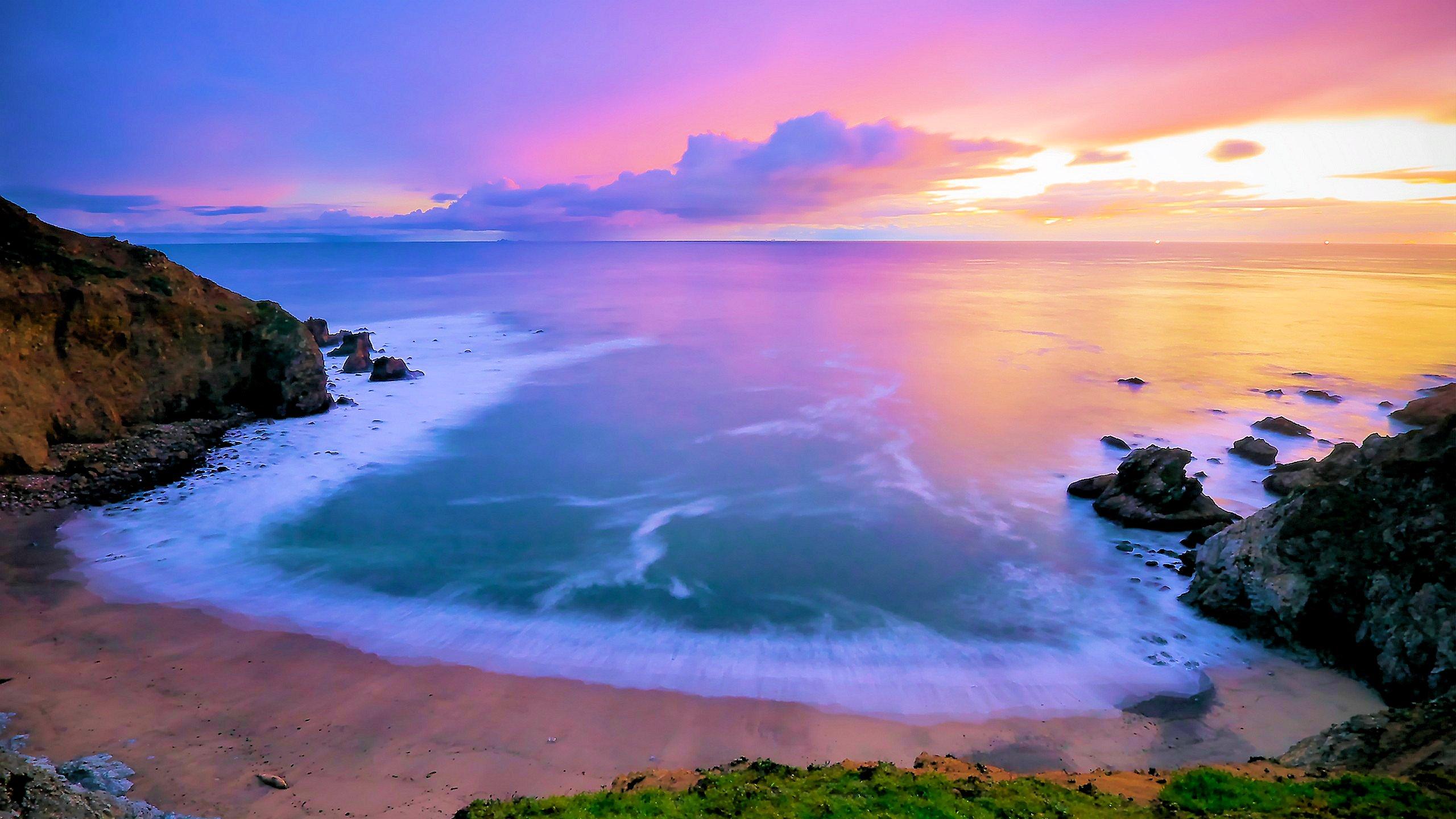 lighted beach
