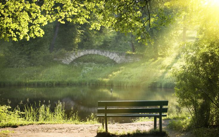 park bench bridge