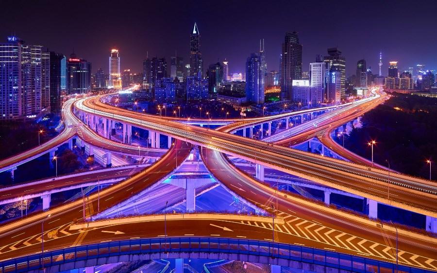 Street lights city