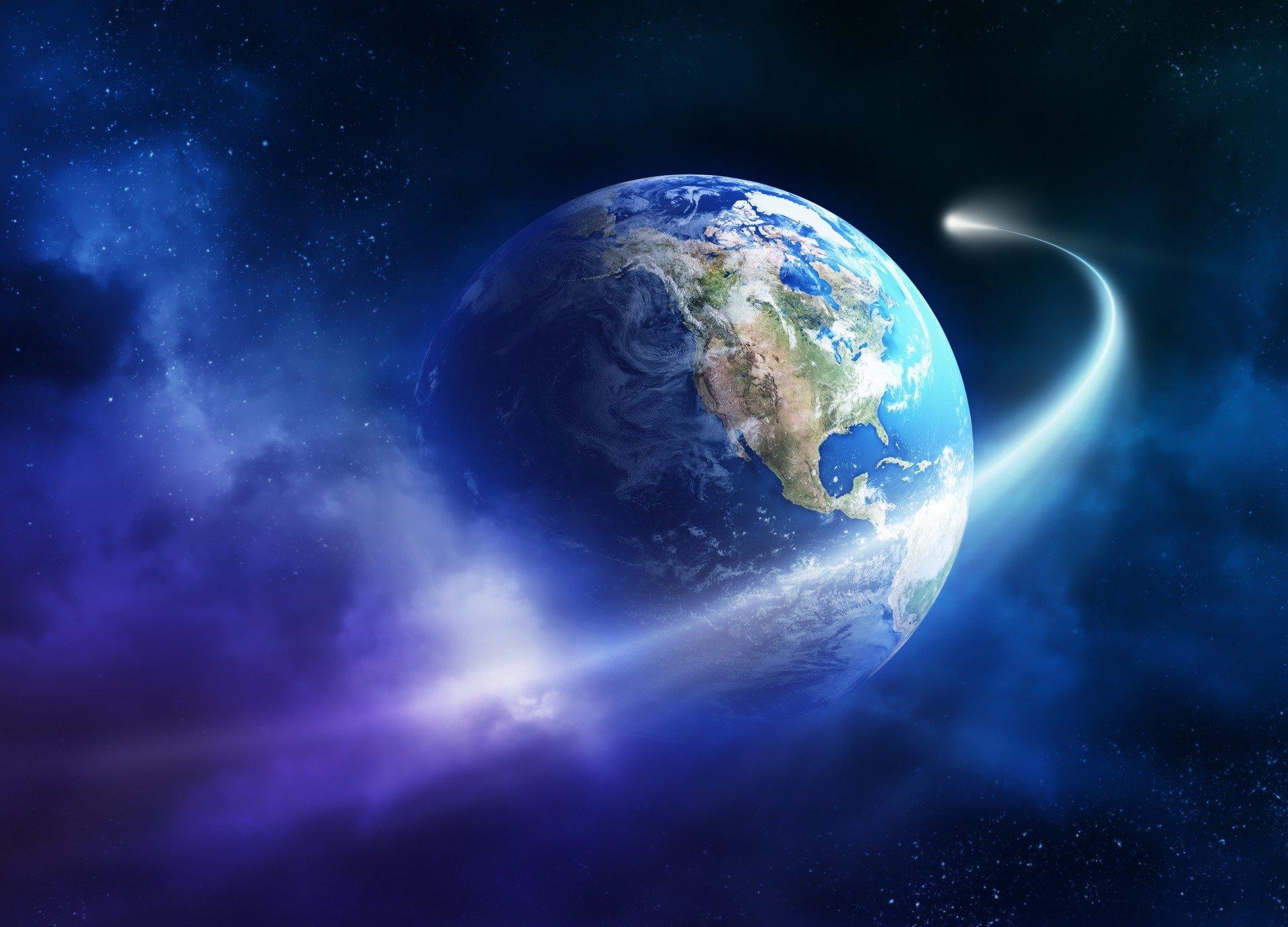 shooting past earth